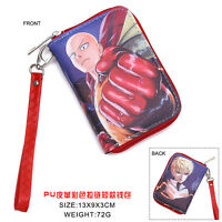 Hot Anime One Punch Man Cosplay PU Leather short Purse Wallet