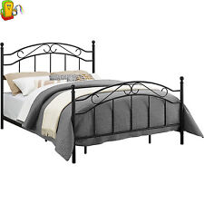 Queen Size Metal Bed Frame Headboard Footboard Contemporary Bedroom Furniture