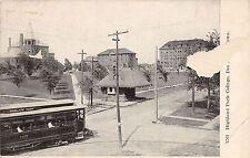 A66/ Des Moines Iowa Ia Postcard c1910 Highland Park College Trolley