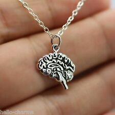 ANATOMICAL BRAIN NECKLACE - 925 Sterling Silver - Zombie Brains Dead Walker NEW