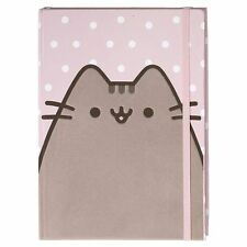 Official GUND Pusheen Polka Dot Print Pink 80 Ruled Pages Flocked Cover Journal