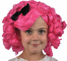 Morris Costumes Lalaloopsy Childrens Pink Black Wig. XS11844