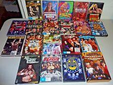 bulk vintage legends wrestling dvds x 20 wwe wwf wcw wrestlemania nwa wcw hogan