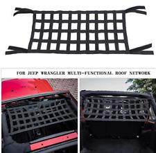 Mesh Cargo Net Roof Top Net Hammock for Jeep Wrangler YJ TJ JK JKU JL JLU 87-19