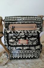 Sakroots Womens Small Flap Messenger Bag 105311 Black & White One World