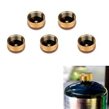 5×Solid Brass 1LB Propane Bottle Block Gas Leakage Cap Refill Protect Disposable