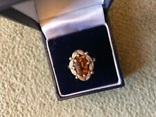 set with yellow stone size O Vintage 1970�s 9 carat gold ring ring