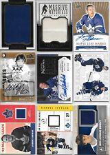 U PICK'EM LOT (20+) Toronto Maple Leafs Premium Jersey AUTO Memorabilia cards