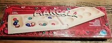 Classic Games Mancala Wooden Board Game 48 Piece Marble Stone 1997 Pressman USA