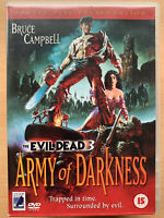 Army of Darkness DVD Evil Dead 3 1992 Cult Horror Rare Anchor Bay 2-Disc Set