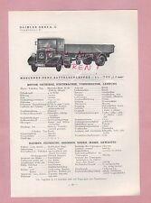 GAGGENAU Typentafel 1934 Daimler-Benz AG Mercedes Sattelschlepper LZ 6000 8000