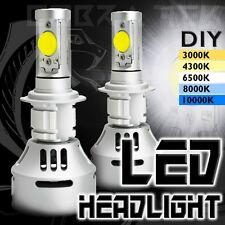2x Cobra Tek H7 White LED High Low Beam Replacement Headlights Fog Lamps Bulbs