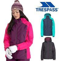 Trespass Womens Ski Jacket Padded Waterproof Hooded Ladies Snow Coat
