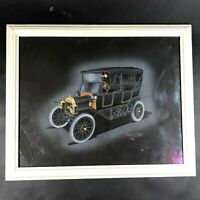 Dom Pacitti 1969 Car Automobile Art Print of 1913 Ford Model T Painting Black