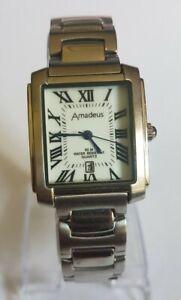 Beautiful Amadeus Tank Style Men's Quartz Watch For Repairs