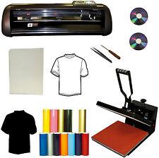 "New 15x15 Heat Press,13"" 1000g Vinyl Cutter Plotter,Heat Transfer Paper,PU Vinyl"