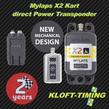 MYLAPS x2 Kart Transpondeur Incl. 2 ans fonction directement Power incl. Zub. Nouveau