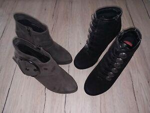 🌿💖Bull Boxer und Only Pink Damen Stiefeletten 2 Paar Schuhe Gr. 39🌿💖