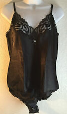 Body Chic Vintage Medium black set tap panties camisole lace bow sexy lingerie