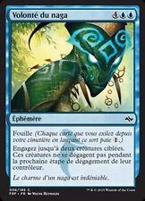 MTG Magic FRF - (4x) Will of the Naga/Volonté du naga, French/VF