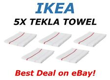 **SALE** 5pc IKEA TEKLA Kitchen Towel Dish Cleaning Cloth Towels White Red