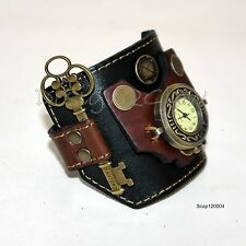 SteamPunk Watch Leather wide band Women Men  COOL Naughty Fashion Artistic 1204