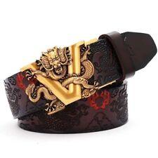 New Men's Classic V head Buckle Genuine Cow Leather Jean Luxury Vintage Belt