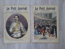 lot de 2 n° Le Petit Journal 1897 - Roi de SIAM - numéros 357 et 358 - à saisir