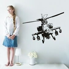 Military Helicopter Wall Decal Airplane Vinyl Wall Sticker Home Decor Boys Rooms