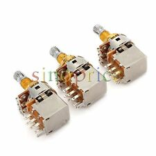 3pcs A500k Potentiometer Split Shaft Push Pull Guitar Control Pot