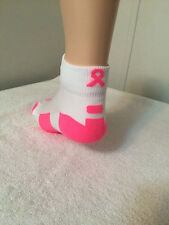 *** 1 Pair Ladie's Performance Elite Breast Cancer Awareness Ankle Socks***