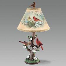 Garden Harmony Cardinal Bird Table Lamp  -  Lena Liu Nature Bradford Exchange