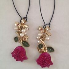 Pearl Bow Tie Tulip Earrings
