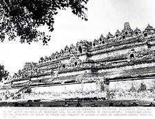 1969 Vintage Photo Borobudur Mahayana Buddhist temple Central Java Indonesia