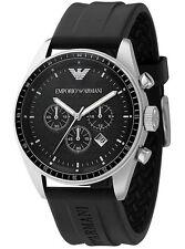 Emporio Armani AR0527 Herren Classic Schwarz Silikon Gummi Chronograph Herrenuhr Verkauf