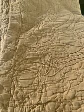 Pottery Barn Euro Sham Pillow Square Pair 2 Wheat Matelasse Baroque Textured
