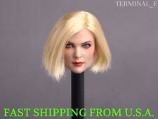 1/6 Female Head Sculpt C BLONDE SHORT HAIR For Hot Toys Phicen Figure ❶USA❶