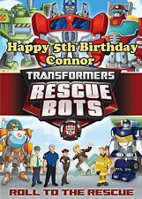 Transformers Rescue Bots Boys Party Premium Edible Frosting Cake Topper
