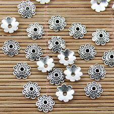 100pcs Tibetan silver beads caps charms h2931