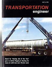 Magazine - Transportation Engineer  7/76.  Peterbilt, Mack, Talbert, Manitowoc,