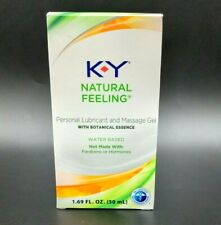 K-Y Natural Feeling Lubricant And Massage Gel. With Botanical Essence 1.69oz