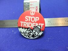 vtg tin badge stop trident anti nuclear missile protest 1970s march supporter