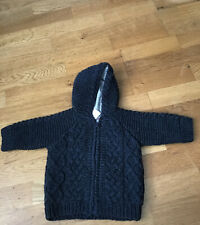Gap Baby Boy Navy Blue Knitted Hooded Cardigan 3/6 Months