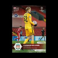 2020 UCL Topps Now card #26 UEFA Champions League CAOIMHIN KELLEHER RC