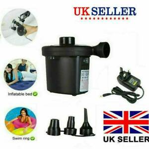 Electric Air Pump Inflator for Inflatables Camping Bed pool 240V Mains UK