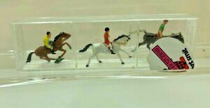 MODEL/RAILWAY/DIORAMA HO GAUGE MERTEN GYMKHANA HORSE RIDERS FIGURES