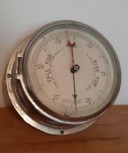 Vintage 'Sestrel' Barometer by Henry Browne & Son Ltd in Chromed Brass