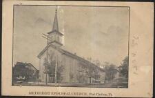 Postcard Port Carbon Pennsylvania/Pa M.E. Methodist Episcopal Church view 1907