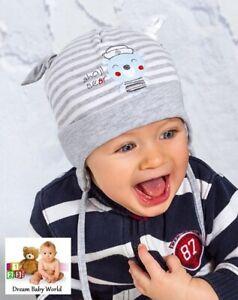 Rich Baumwolle Jungen Mütze Herbst 9-18 Monate Binden Infant Kids Baby Boy Cap