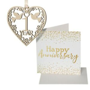 Anniversary gift plaque card set her him 1 2 3 4 5 10 15 20 25 30 35 40 45 50
